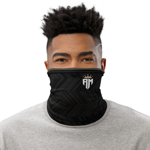 Madrid 2020 Champions Crown Black Soccer Gaiter Face Mask