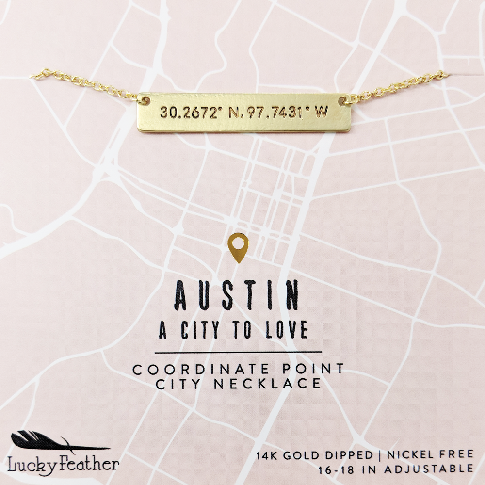 Coordinate City Necklace - Austin - 4 pk