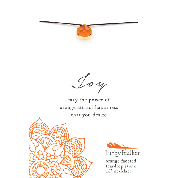 Color Power Necklace - ORANGE - 4 pk