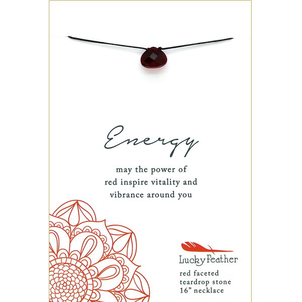 Color Power Necklace - RED - 4 pk