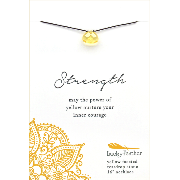 Color Power Necklace - YELLOW - 4 pk