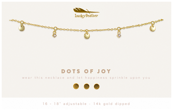 Dangle Necklace Gold - DOTS OF JOY - 4 pk