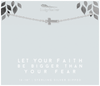 Faith - Let Your Faith Sideways Cross - SILVER - 4 pk