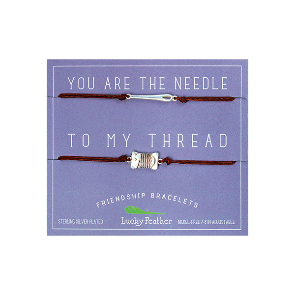 Friendship Bracelet - Silver - NEEDLE/THREAD - 4pk