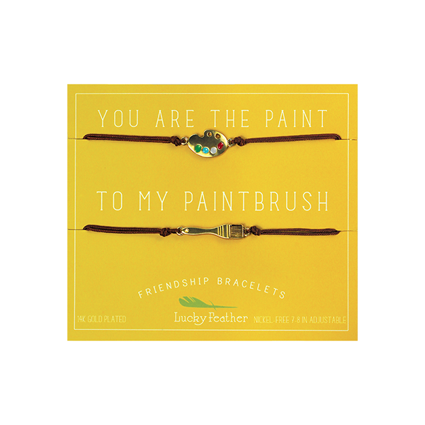Friendship Bracelet - Gold - PAINT/PAINTBRUSH - 4pk