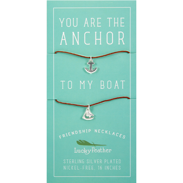 Friendship Necklace - Silver - ANCHOR/BOAT - 4 pk