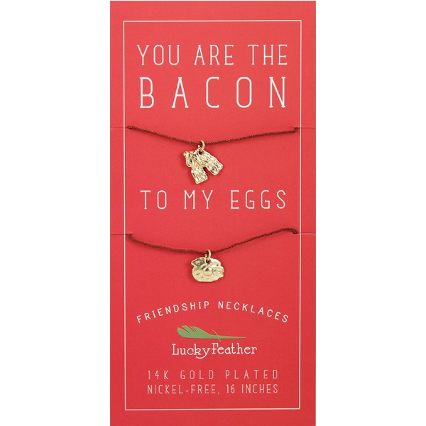 Friendship Necklace - Gold - BACON/EGGS - 4 pk