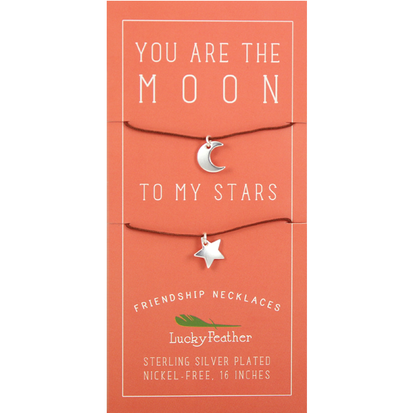 Friendship Necklace - Silver - MOON/STARS - 4 pk