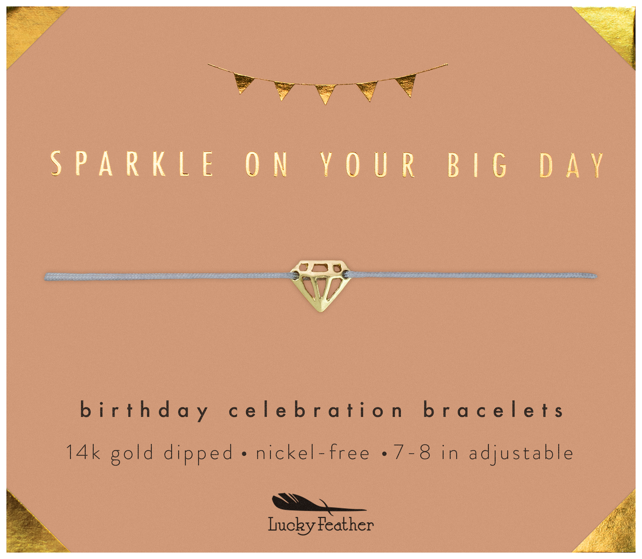 Birthday Celebration Bracelet - GOLD - Sparkly Birthday