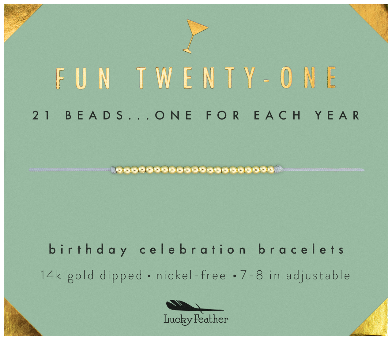 Milestone Birthday Bracelet - GOLD - Twenty-One