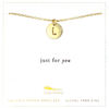 Letter Disc Necklace - Gold - L - 4 pk