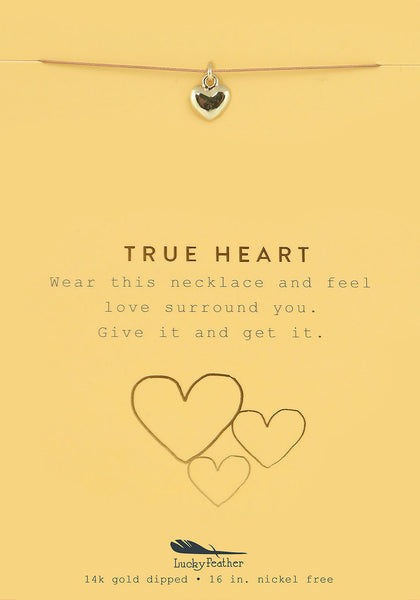 New Moon Gold Necklace - TRUE HEART