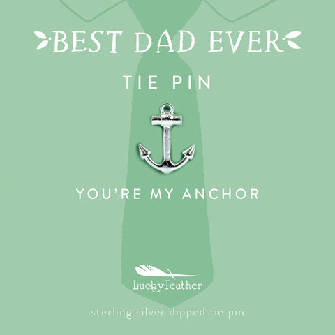 Tie Pin - You're My Anchor - Silver - Anchor - 4 pk