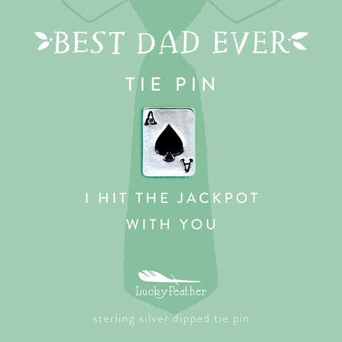 Tie Pin - I hit the jackpot with you - Silver - Deck of Cards - 4 pk