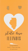 State LOVE Earrings - Gold - ILLINOIS - 4PK