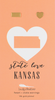 State LOVE Earrings - Gold - KANSAS - 4PK