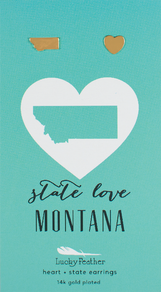 State LOVE Earrings - Gold - MONTANA - 4PK