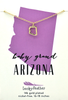 State Necklace - Gold - ARIZONA - 4 pk