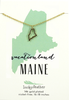 State Necklace - Gold - MAINE - 4 pk
