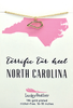 State Necklace - Gold - NORTH CAROLINA - 4 pk