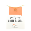 State Necklace - Gold - SOUTH DAKOTA - 4 pk