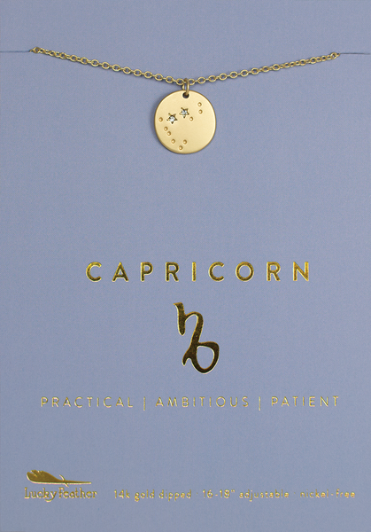 Zodiac Necklace - Gold - CAPRICORN