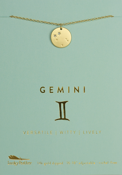 Zodiac Necklace - Gold - GEMINI