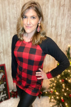 Load image into Gallery viewer, Buffalo Plaid Long Sleeve Top