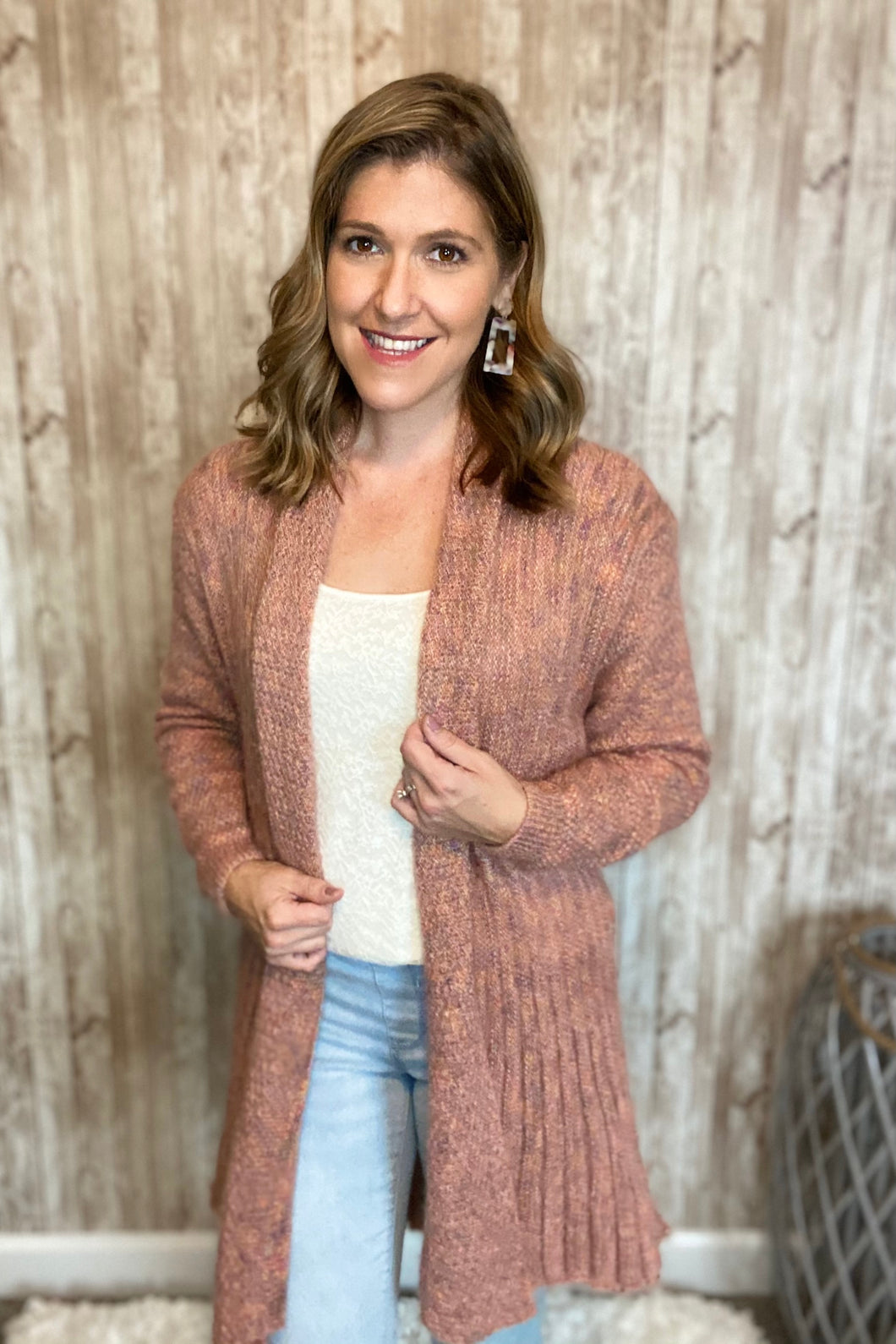 Mauve Sweater Weather Cardigan