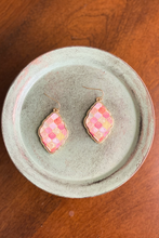 Load image into Gallery viewer, Pastel Wooden Tile Earrings