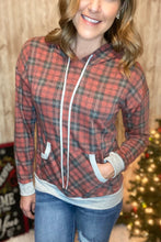 Load image into Gallery viewer, Casual Plaid-itude Hoodie