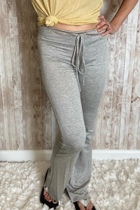 Soft Gray Drawstring Lounge Pants