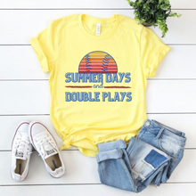 "Load image into Gallery viewer, ""Summer Days and Double Plays"" Tee"