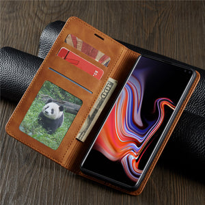 Leather Flip Case For Samsung