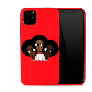 Afro Black Girl Magic Melanin Poppin Art Phone Case For iPhone