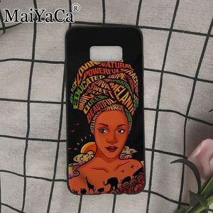 African Afro Melanin Poppin Black Girl Phone Case for Samsung