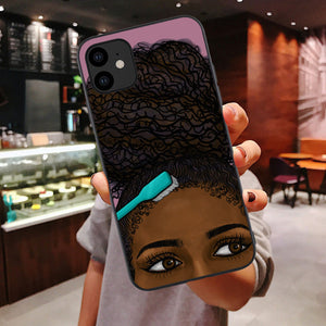 Black African Art Phone Case for iPhones
