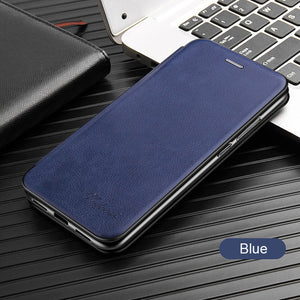Leather Flip Magnetic Case For Huawei