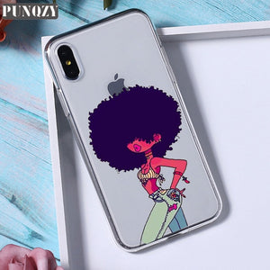 Afro Black Girl Magic Melanin Poppin phone Case For iPhone
