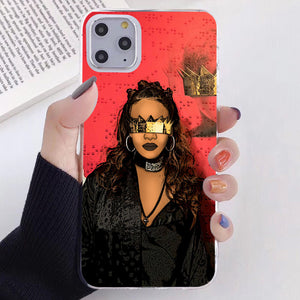 Melanin Magic African Black Girl Hair Art Case For iPhone