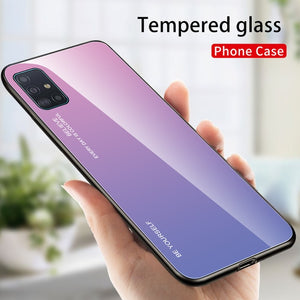 Gradient Tempered Glass Case For Samsung Series