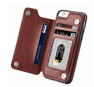 Luxury Flip Leather Wallet Case For iPhone