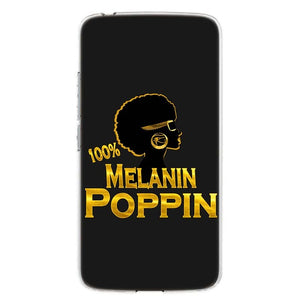 Melanin Poppin Silicone Phone Case For Motorola MOTO Series