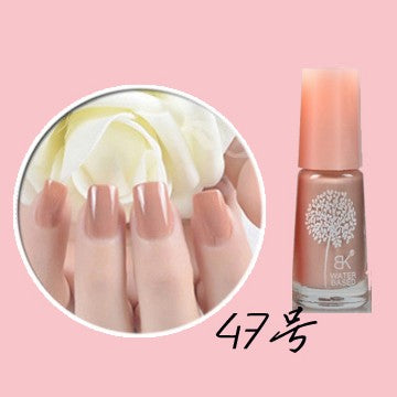 BK Peel Off Nail Polish Kutek Halal Water Based - Beige