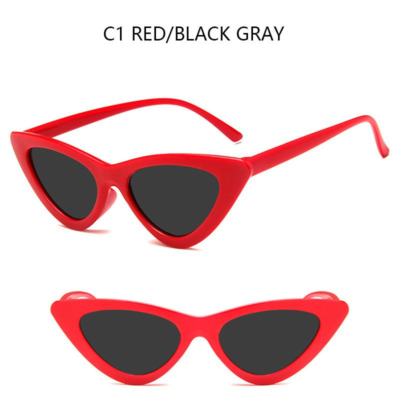 Kacamata Hitam 2018 Korean Ulzzang Triangle Vintage Cat Eye Sunglasses Women Men