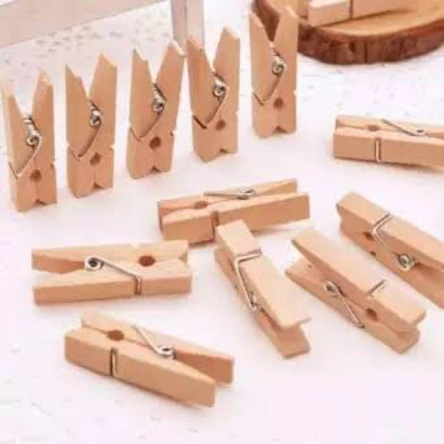 Wooden klip 20pcs plus tali rami