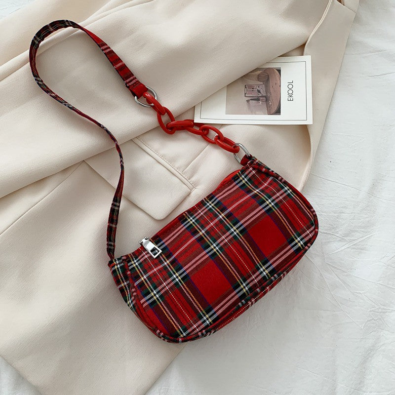 Summer Plaid Shoulder Bag