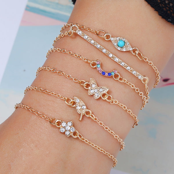Set/6pcs Gelang Bangle Wanita Gaya Korea
