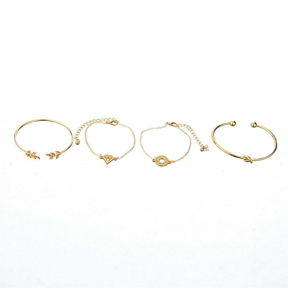 4Pcs/Set Gelang Tangan Wanita Model Simpul