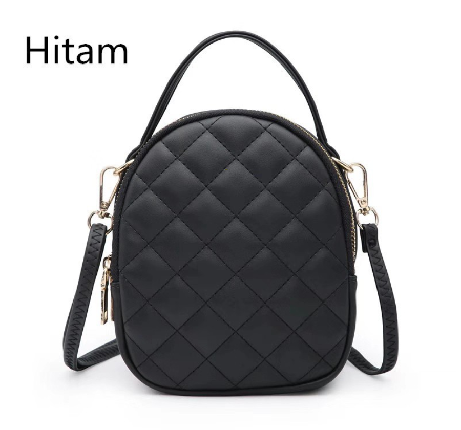 Sling Bag Tas Fashion Cantik Modis Selempang Warna Hitam